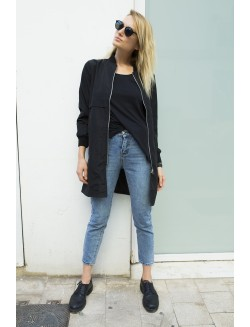 Long Fit Bomber